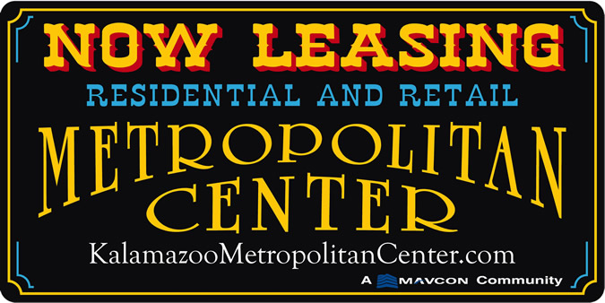 Metropolitan Center Now Leasing Sign
